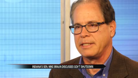New U.S. Senator Mike Braun on the federal government shutdown